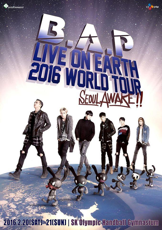 B.A.P Announces Details on 2016 Live on Earth Tour | Koogle TV