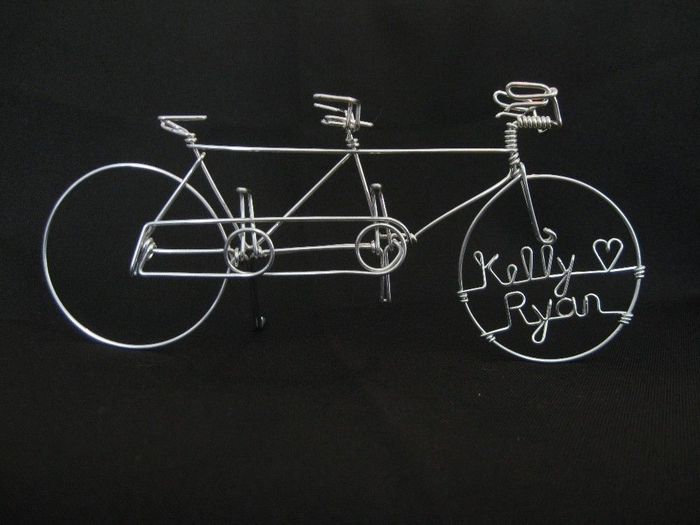 Personalized Tandem Bike Wedding Cake Topper 45 00 Via Etsy