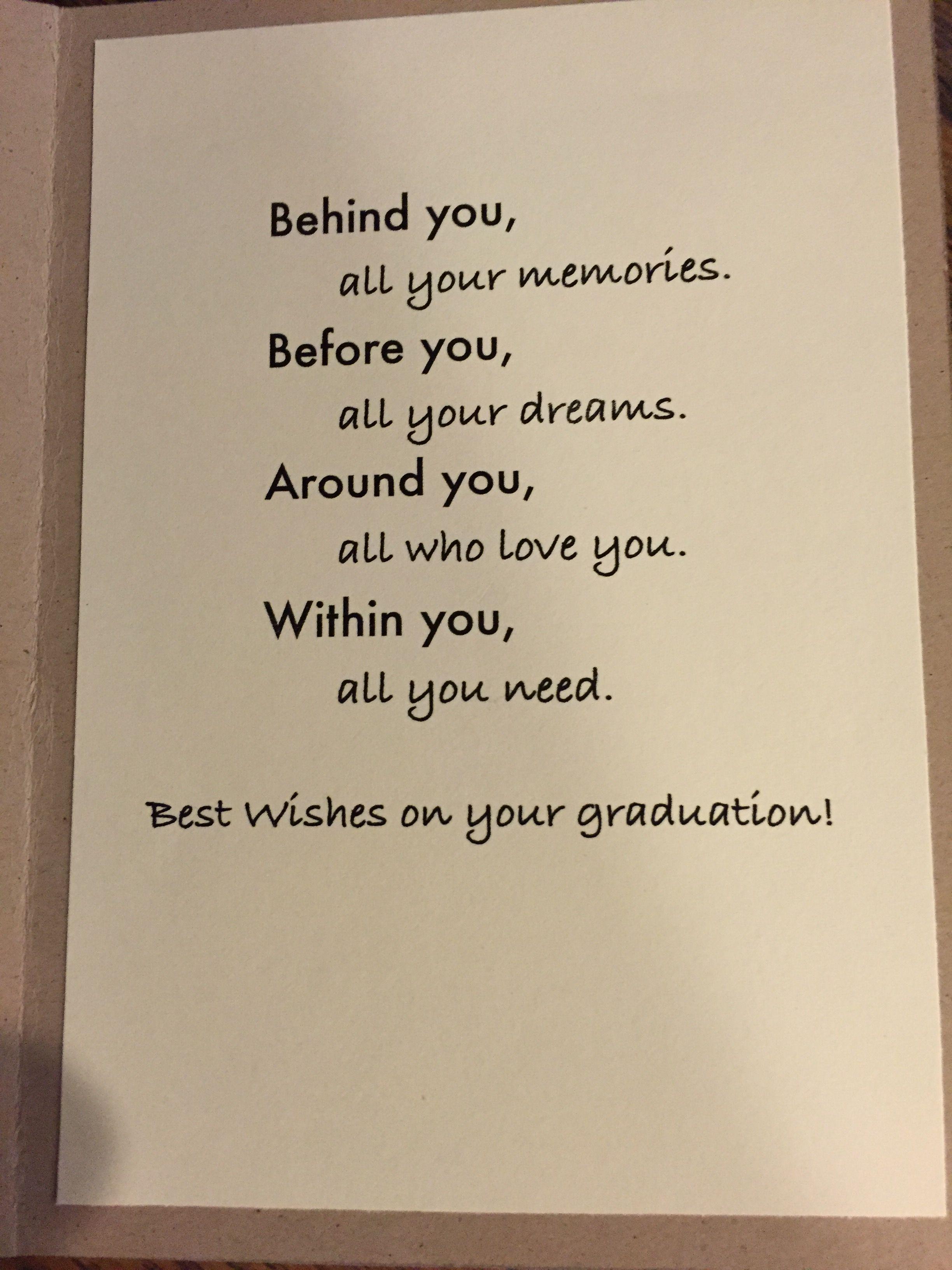 Graduation card saying  Graduation card sayings, Graduation