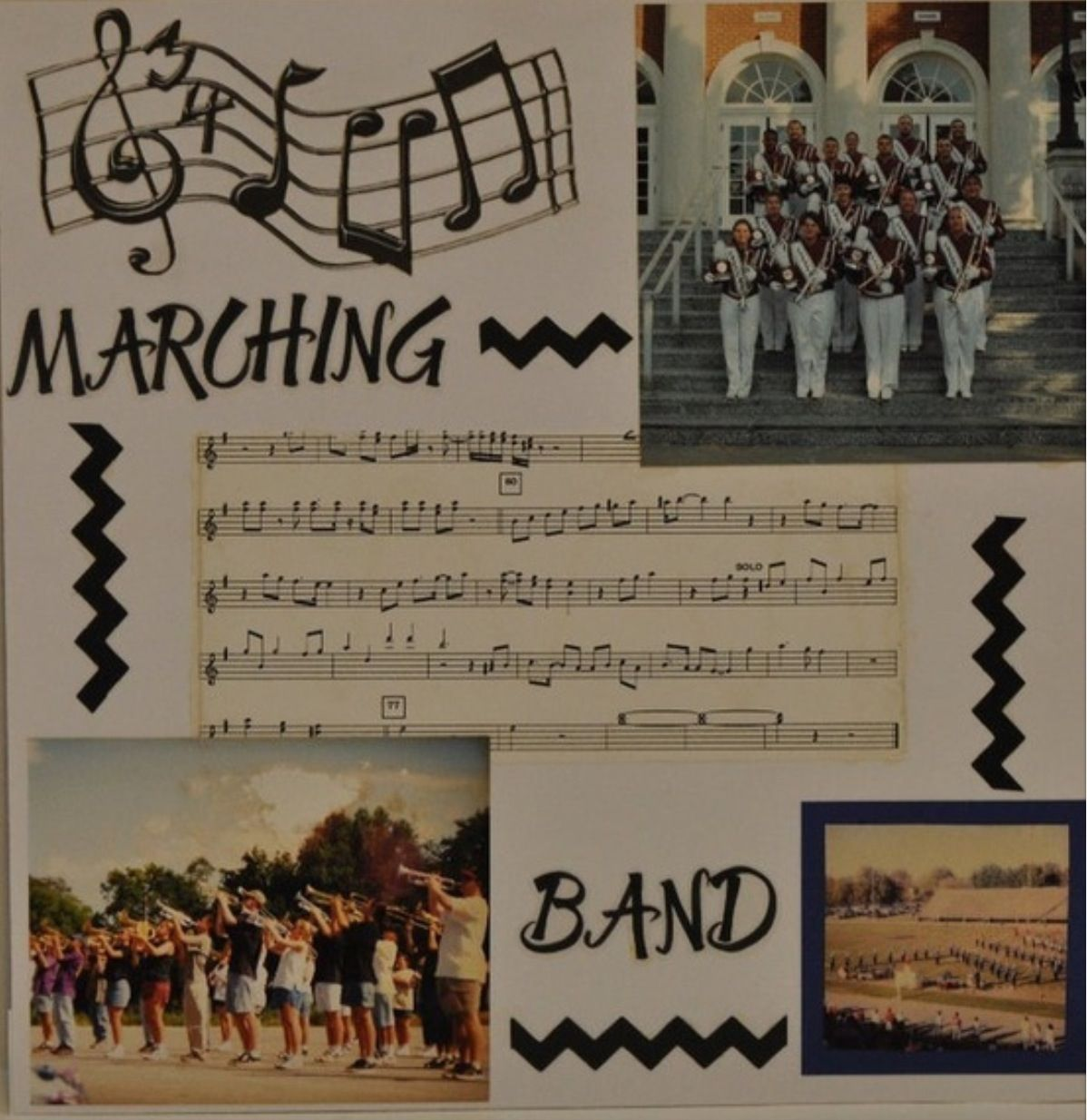 Scrapbook ideas music - Marching Band Scrapbook Idea Must Do