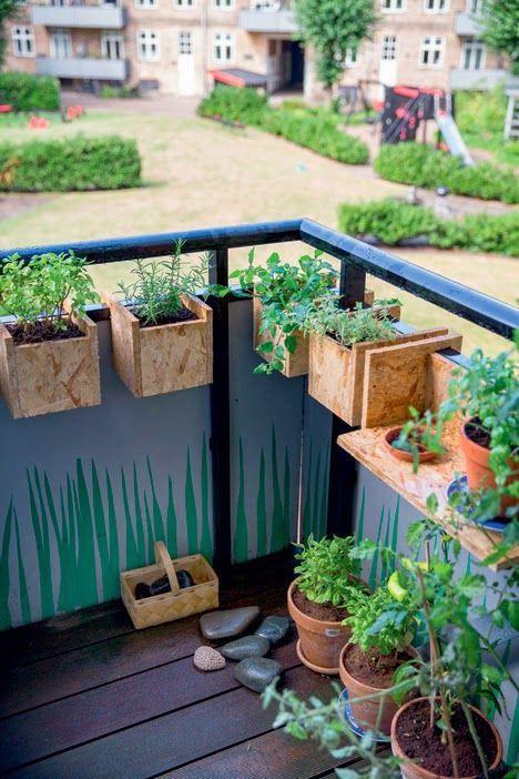 Foto balcon corcho huerto y plantas pinterest - Pequeno huerto en casa ...