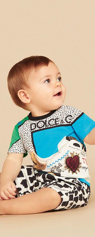 7743f82ae4ed Cute! Dolce Gabbana Baby Boys Just Pizza T-shirt for Spring Summer ...
