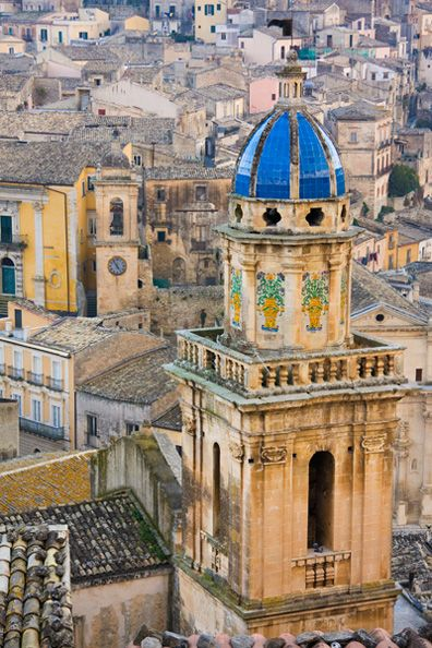 Ragusa, Sicily. The medieval city of Ragusa was almost completely destroyed by the earthquake of 1693. The citizens chose to rebuild the city on a high plateau above the original site and built the current Baroque-style city of Ragusa.