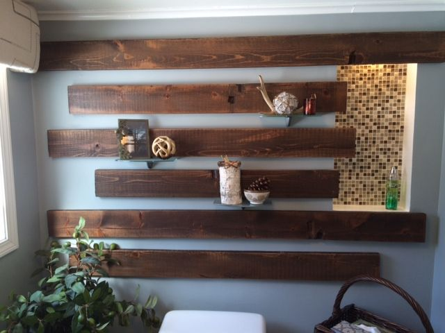Here is a unique wall treatment using our reclaimed lumber that ...