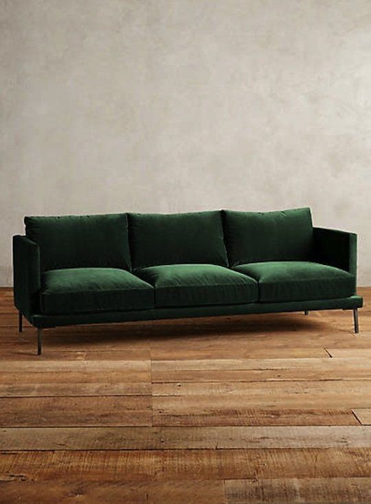 The Hunt For A Non Velvet Green Sofa Green Sofa Green