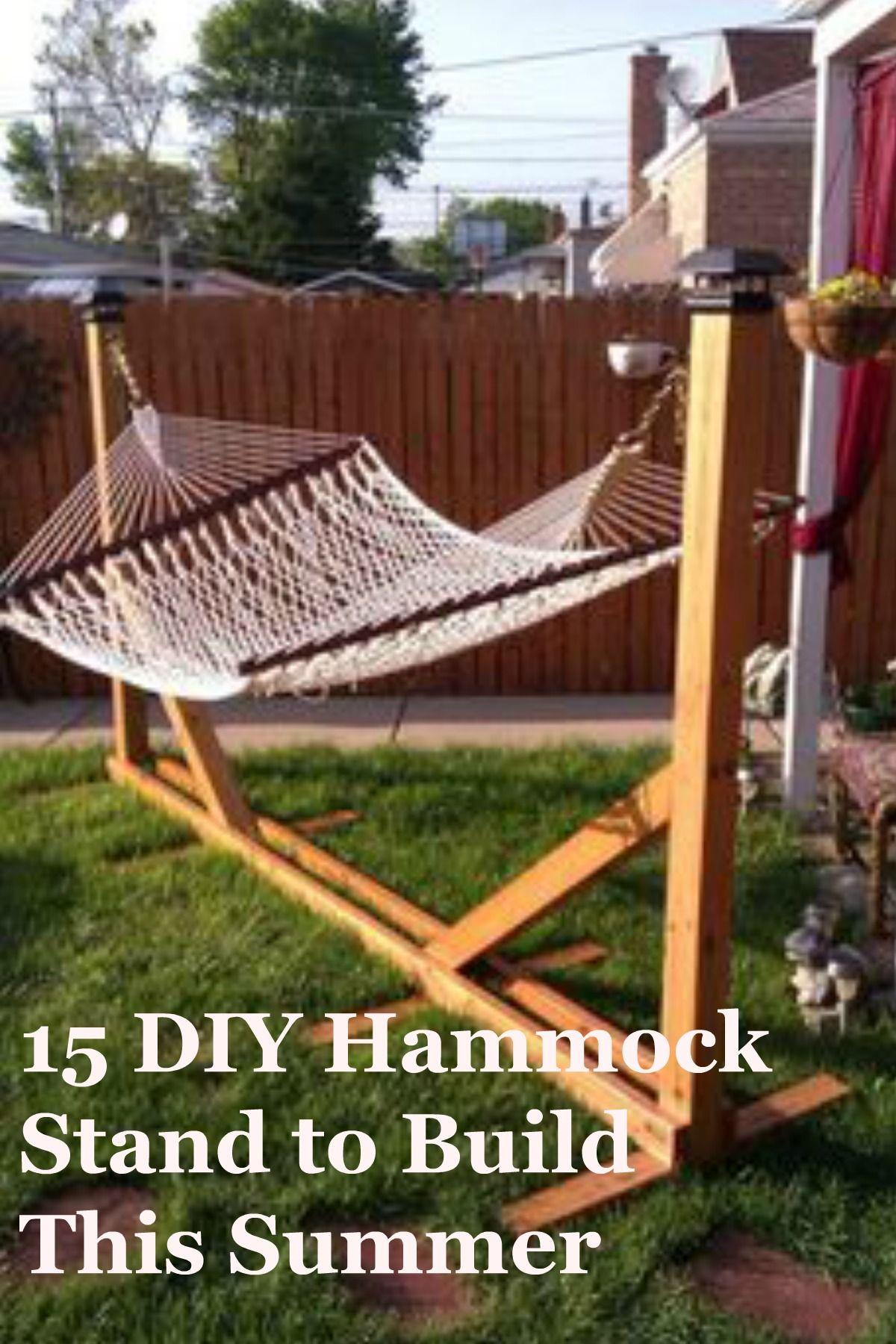 30 Diy Hammock Stand And Hammocks To Build This Summer