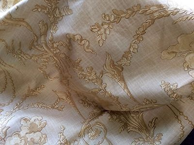 4-Yards-Silk-Damask-Silk-Linen-from-Gaston-Y-Danela-Paris-Hand-Stamped-India