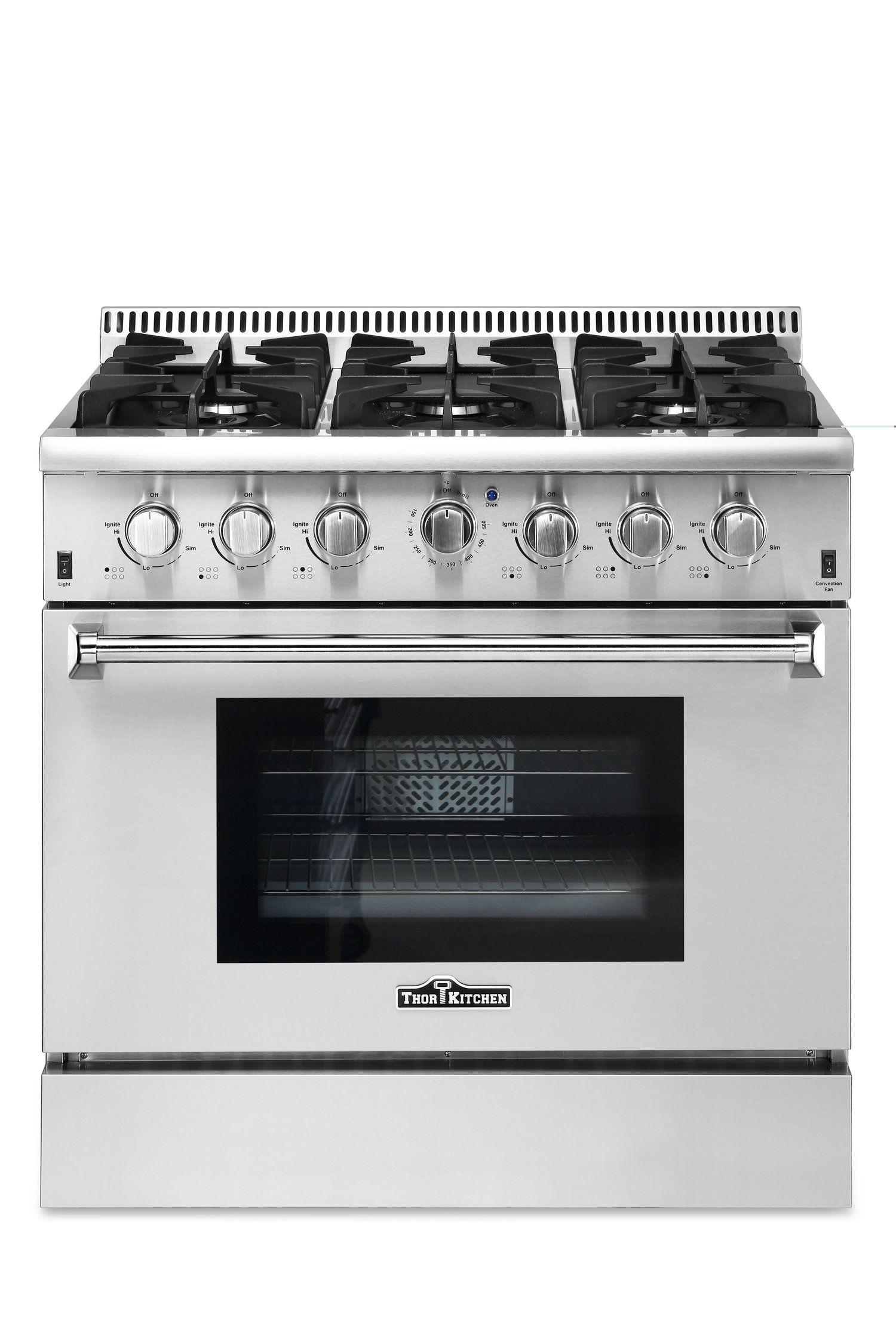 Thor kitchen hrgu inch gas range in products