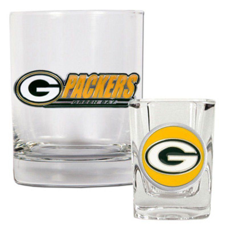 Great American NFL Rocks and Shot Glass Set - GDRGSS20