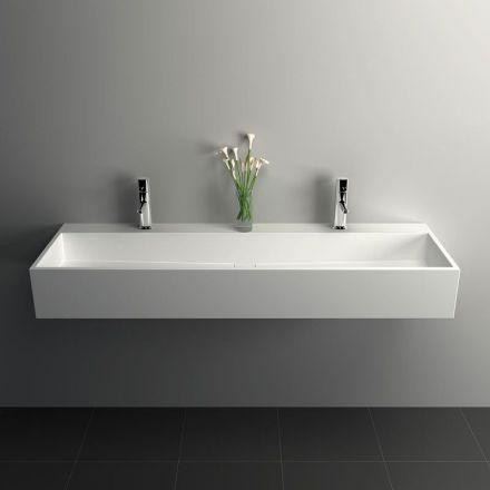 Plan vasque salle de bain suspendu Mineral 120,5x40 cm ...