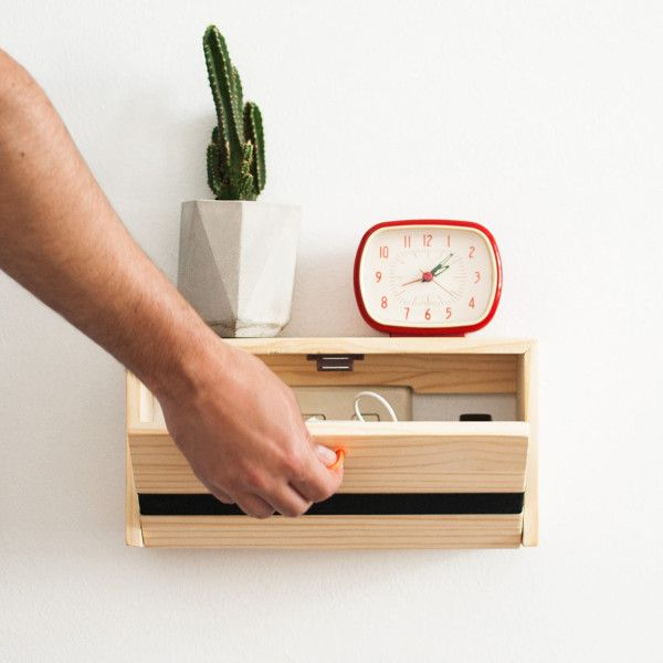 Floating Shelf That 39 S Also A Charging Station Spanish