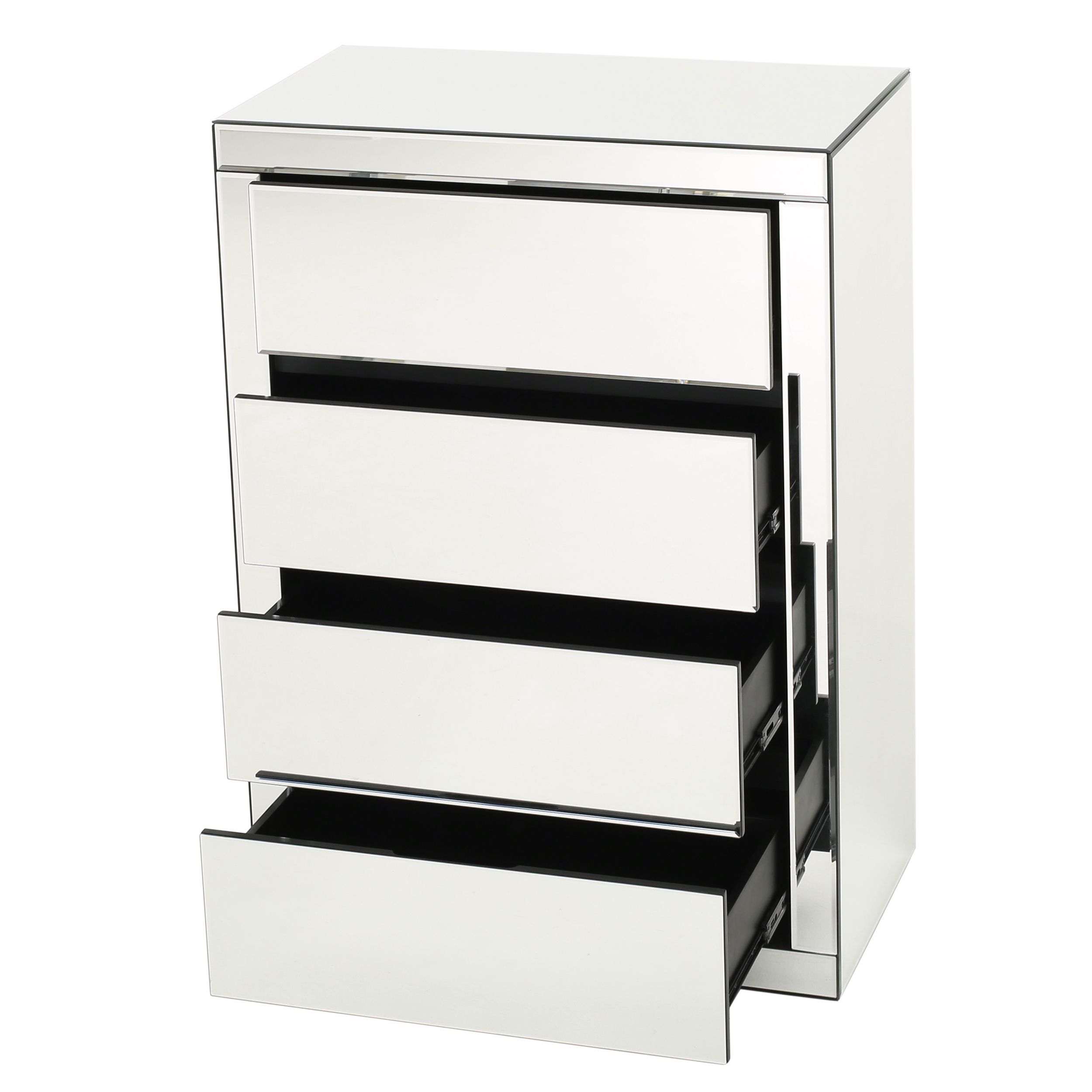 Christopher Knight Home Lada Hard 3-drawer Mirrored Cabinet