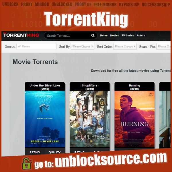 Unblocked TorrentKing proxy mirror list go to https