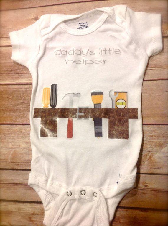 3d3b59c38 Daddy's Little Helper Toolbelt Baby Onesie custom personalized baby onesie  t shirt tool belt toolbelt construction worker daddy's little helper funny  cute ...