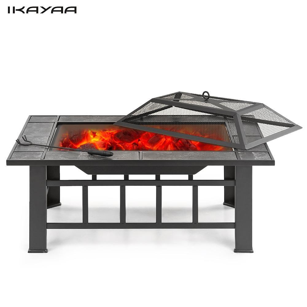 IKayaa Metall Garten Hinterhof Feuerstelle Terrasse ...