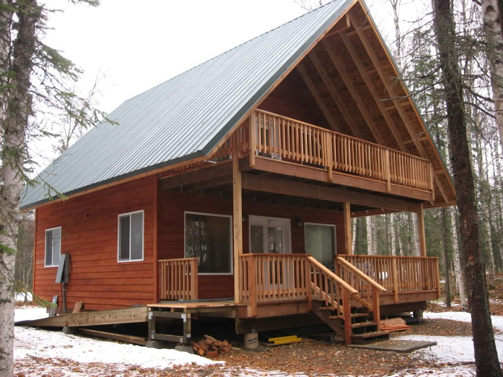 2 Story Cabin 1 1 2 Story Cabin Nearing Completion In Alaska