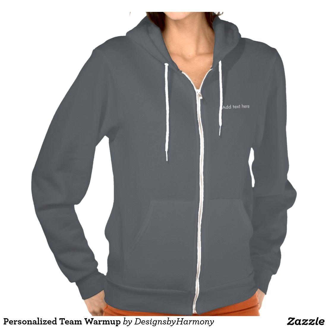 Personalized Team Warmup Sweatshirt