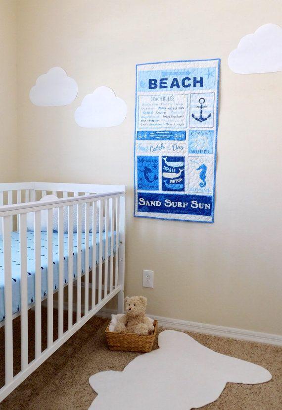 Nautical Baby Nursery Wall Decoration On The Beach Coastal