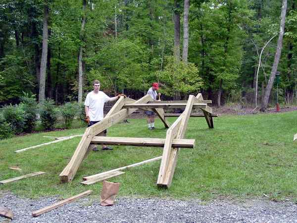 how to make a wooden footbridge