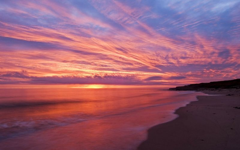 Cancun Sunset Prince Edward Island Prince Edward Island Canada Ocean Sunset
