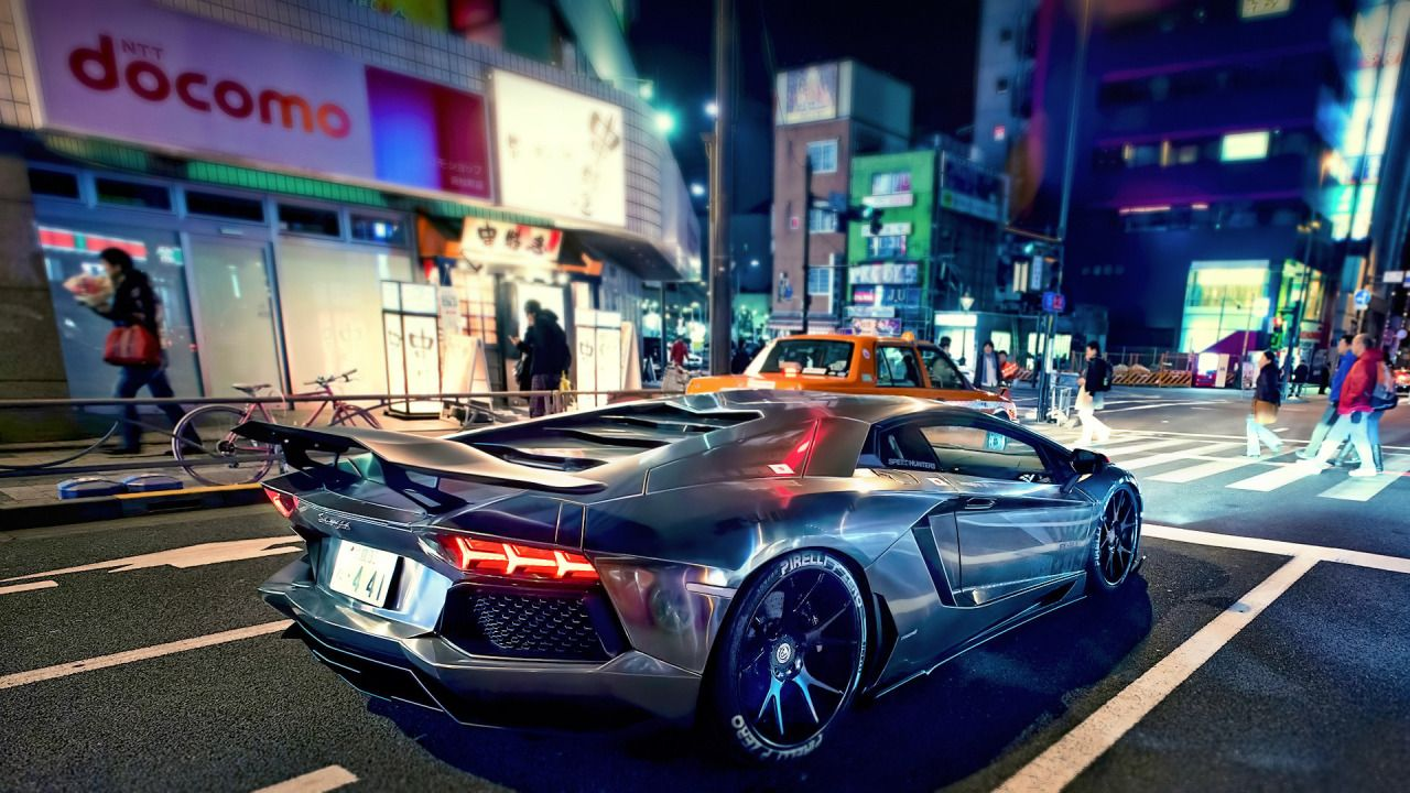 R Wallpapers Lamborghini Aventador At Night