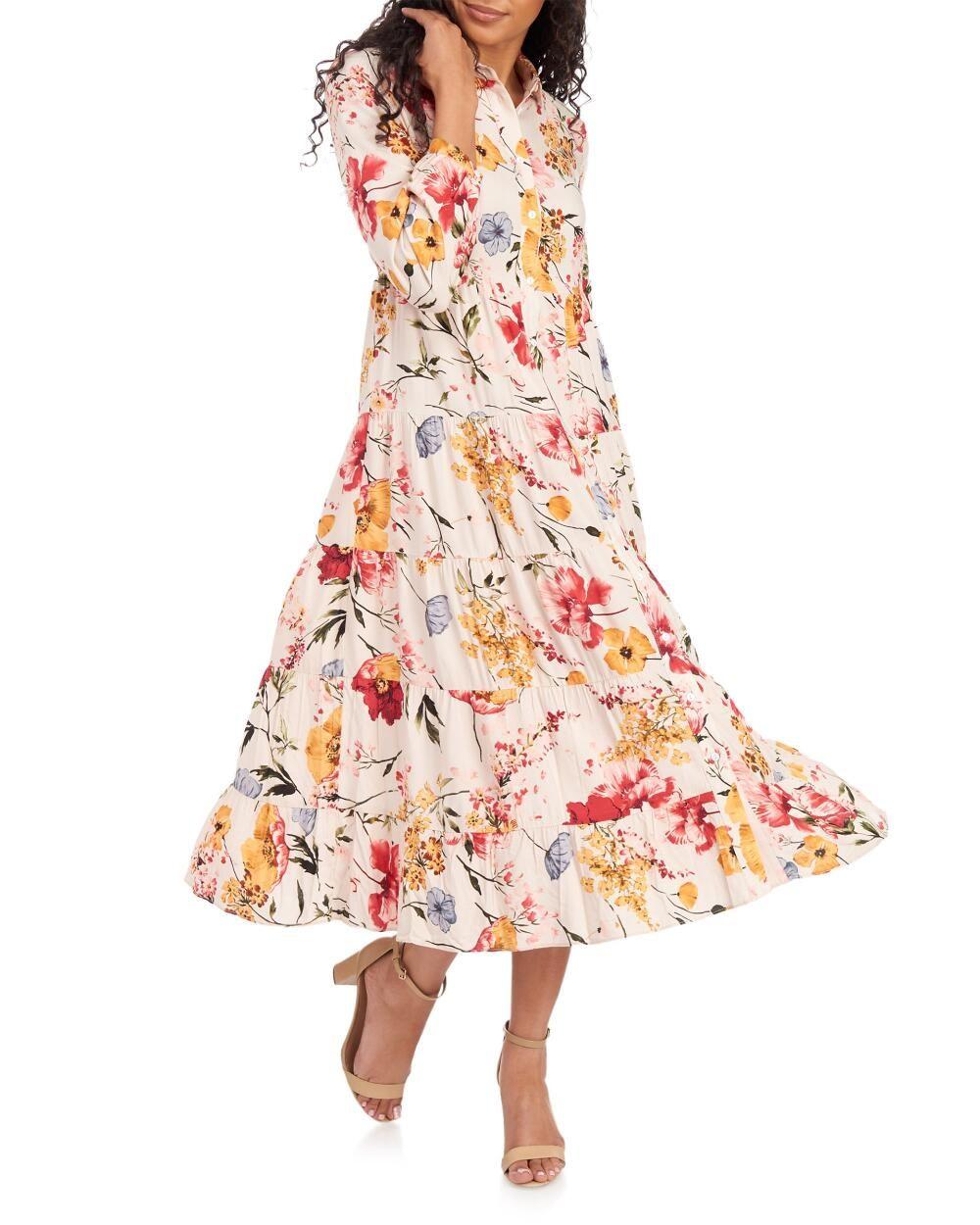 Philosophy Floral Tiered Maxi Shirt Dress Maxi Shirt Dress Occasion Maxi Dresses Dresses [ 1250 x 1000 Pixel ]