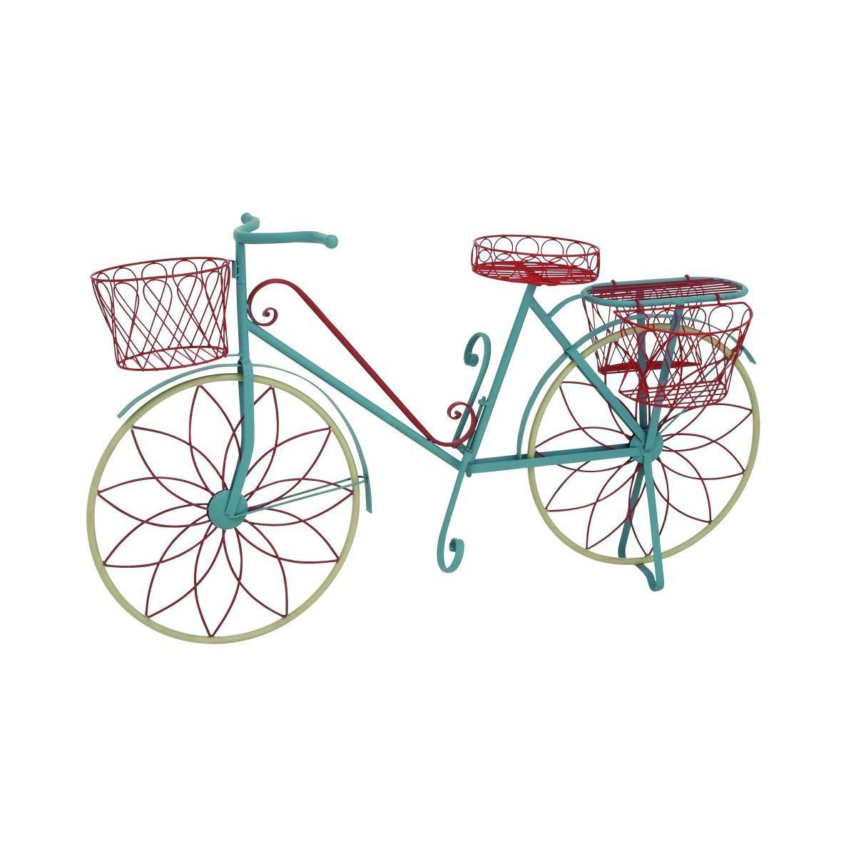 Studio 350 Metal Bicycle Plant Stand (MTL Bicycle Plnt Stnd 54W, 32u0027H),  Blue (Iron) #28946, Outdoor Décor