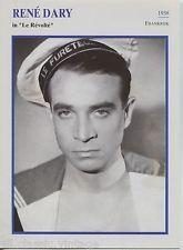 Rene Dary - French Actor Film/Movie/Cinema Trading Card | eBay