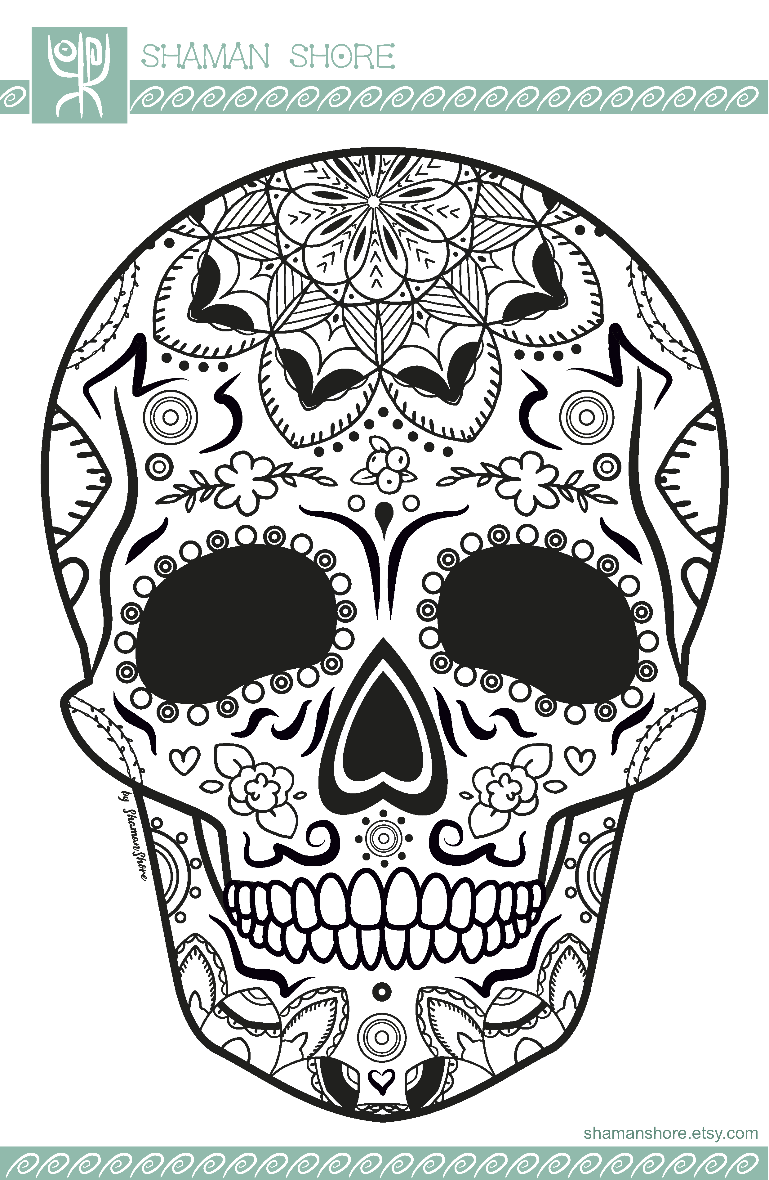 15 Sugar Skull Coloring Pages Printable, Mexican Day of