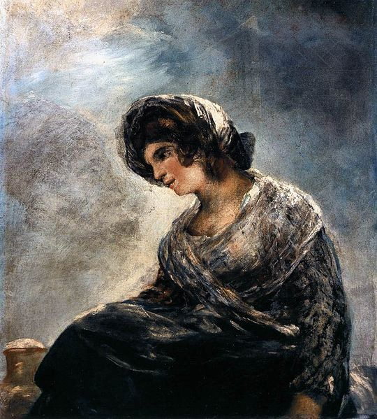 La Lechera de Burdeos by Goya, circa 1825. Love it.
