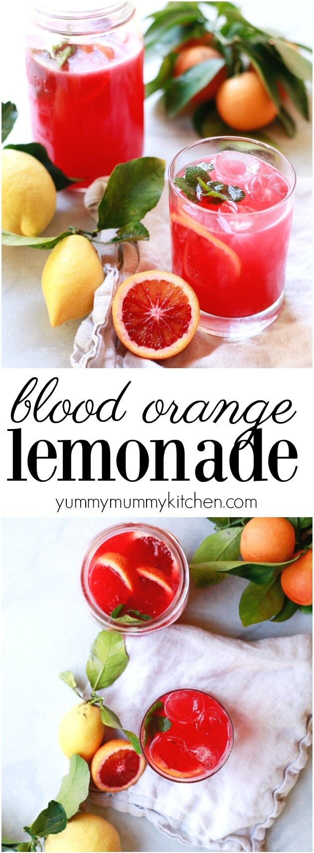 Blood Orange Lemonade #easylemonaderecipe