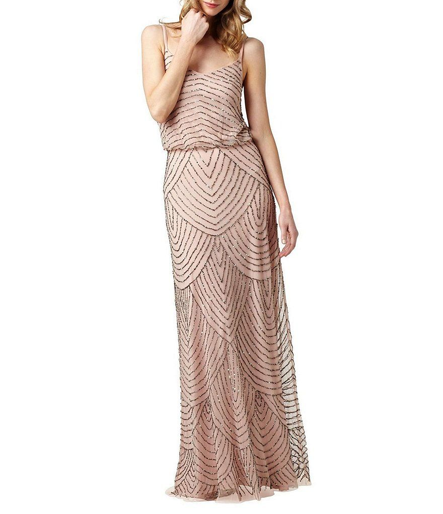 Adrianna Papell Beaded Gown | Adrianna papell and Gowns