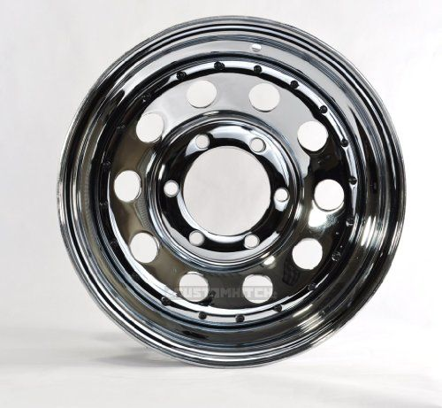 Trailer Rim Wheel 15 15x6 6 Lug Hole Bolt Wheel Chrome Modular Design W Rivets Wheel Chrome Bolt Pattern