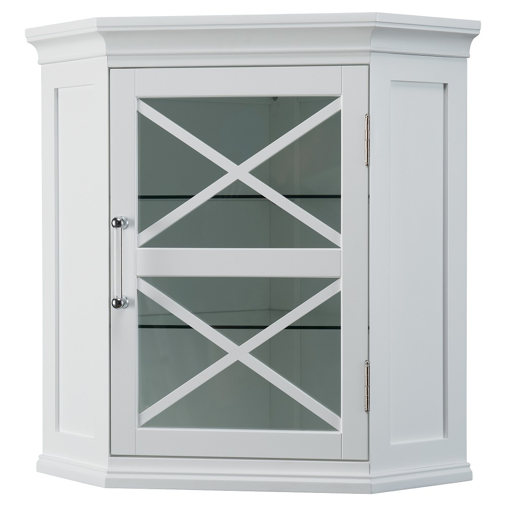 Elegant Home Fashions Wall Corner Cabinet White | Products