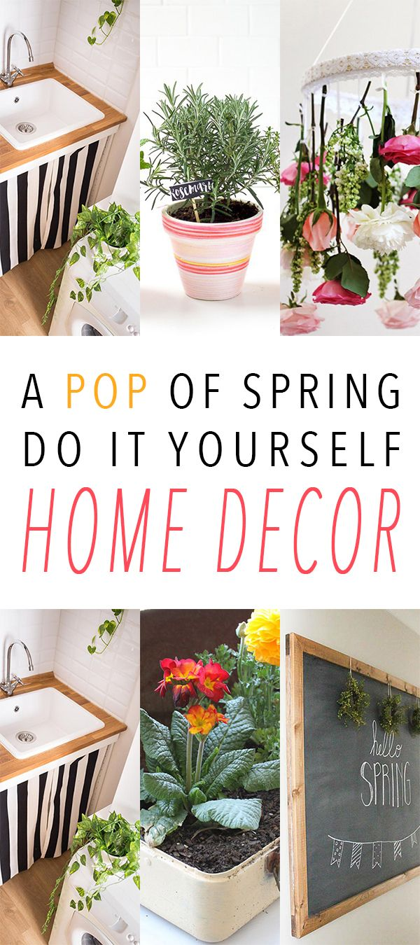 A POP of Spring Do It Yourself Home Decor | Spring, DIY ideas and ...