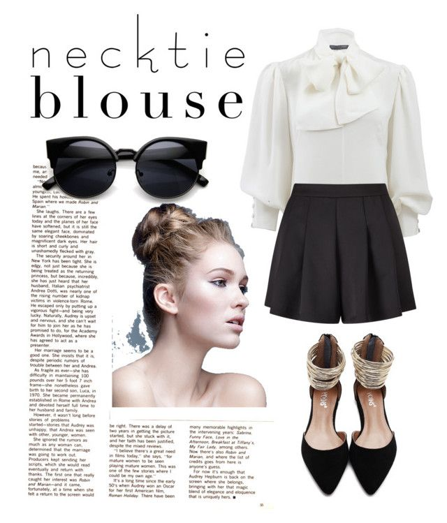 """""""necktie blouse"""" by marhay-ini on Polyvore featuring Alexander McQueen and Miss Selfridge"""