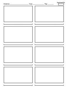 Streamline Storyboard Template Panel Vertical  Storytelling