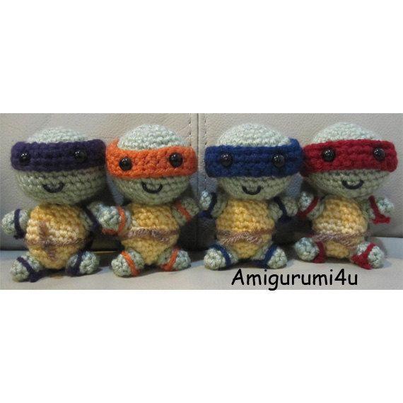 Teenage Mutant Ninja Turtles TMNT Handmade Amigurumi Crochet Doll ...