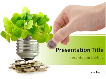 Saving Money With Renewable Energy Powerpoint Template Preview