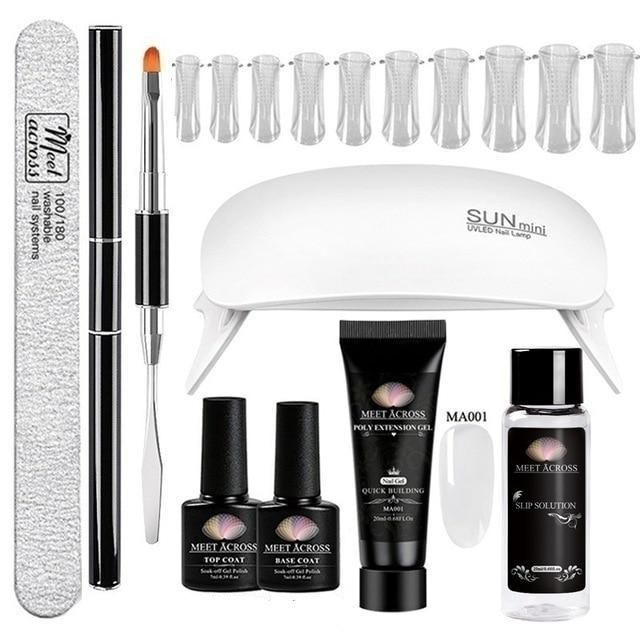 Polygel Nail Kit With Lamp - Nail and Manicure Trends