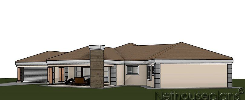 Modern Tuscan Style House Plan 5 Bedroom Single Storey Floor Plans House Plans House Plan Gallery House Plans For Sale Beautiful House Plans