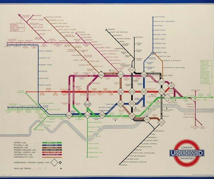 Old London Underground Tube Map London Underground Map Underground Map London Underground Tube Map
