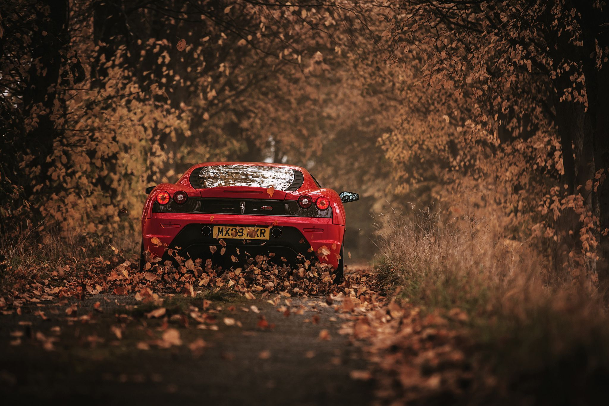 430 Scuderia Red Car Cb Background Car Wall Art
