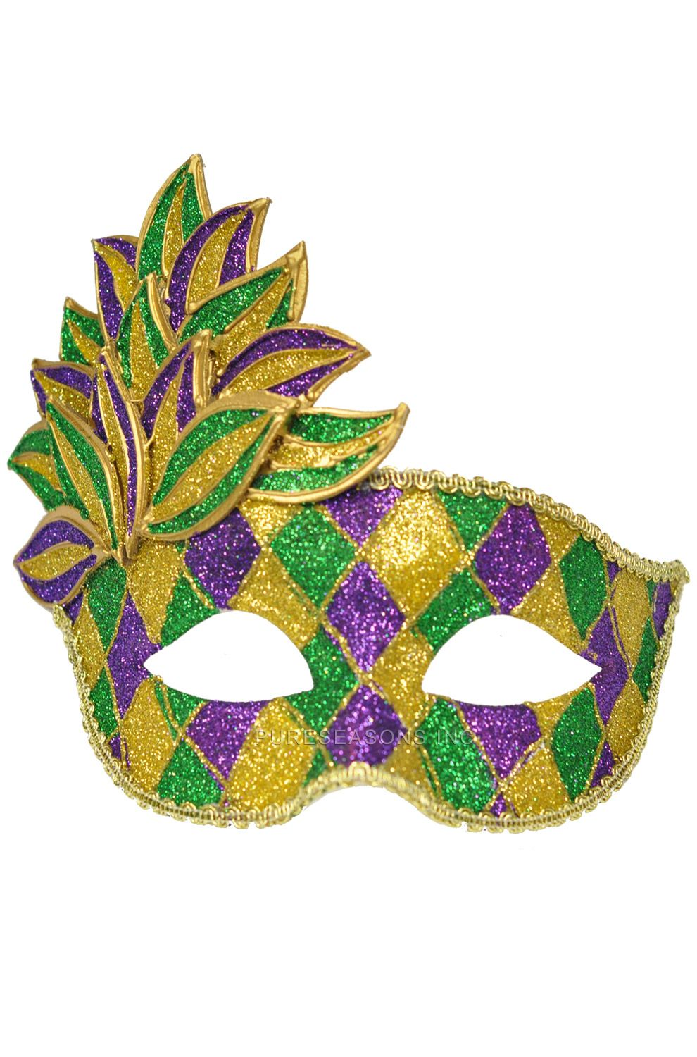 Mardi Gras Leaf Adult Mask | Pinterest | Mardi gras, Masking and Leaves
