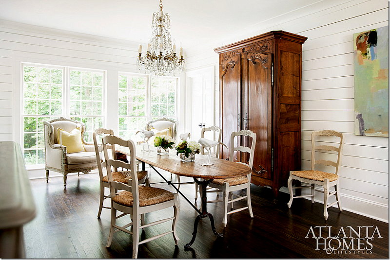 AFTER: French chairs and an antique French armoire mix with an ...