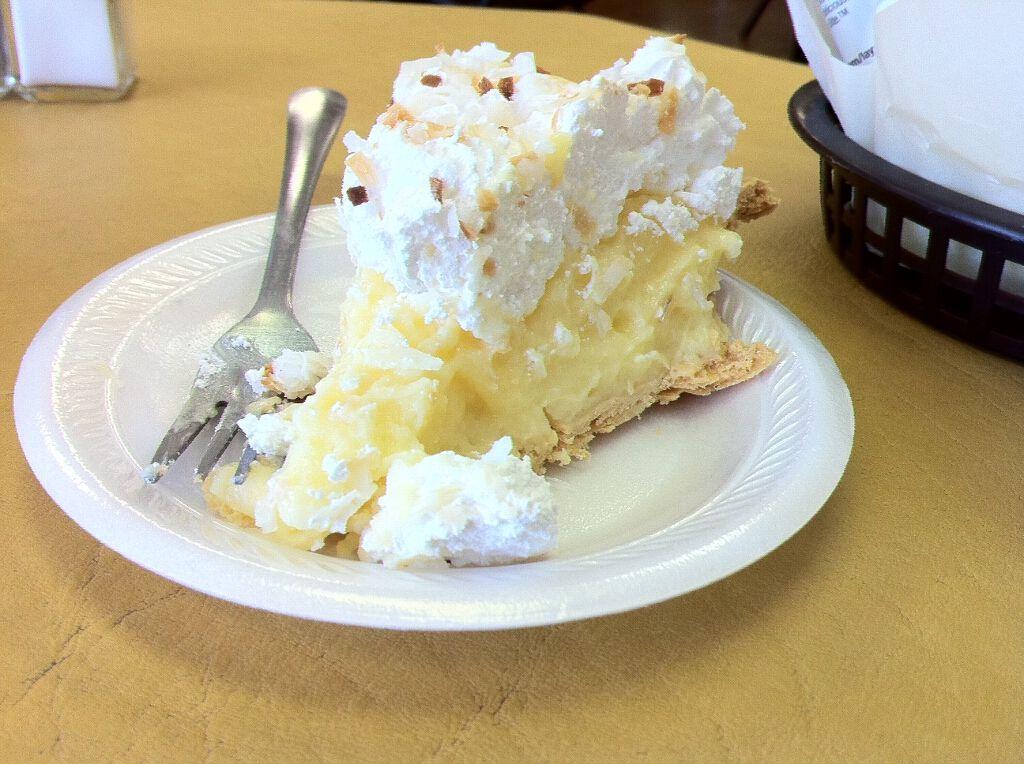 Coconut Cream Pie at Ingrid's Pantry in Bethany Oklahoma from EatAroundOKC.com