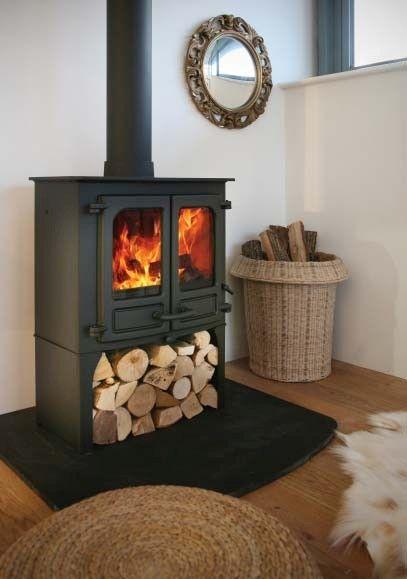 free standing log burner without chimney