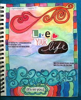 Colorful page by Denise Day Smith.