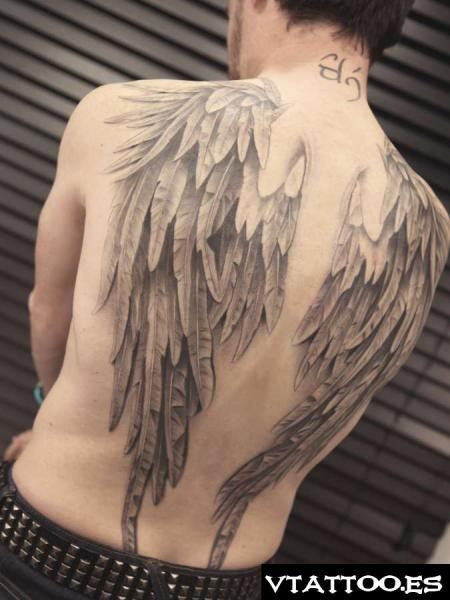 Alas En Espalda Completa Art Broken Wings Tattoo Tattoos Skin Art