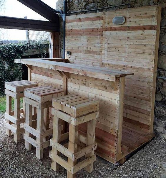 Gute Ideen, Holzpalettenbar, Paletten Terrasse, Paletten Ideen, Paletten  Designs, Holz Handwerk, Diy Holz, Palettenmöbel, Möbelideen